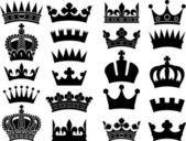 Crown collection (crown set, silhouette crown set) — Ilustração de Stock #26877095