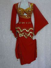 Red belly dance costume | Creative: Belly Dance | Pinterest ...
