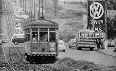 Trolley de Santo Amaro, em São Paulo, no ano de 1968