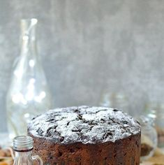 Rich Christmas fruitcake packed full of rum soaked fruit. Make in advance and feed regularly with rum, whiskey, brandy or sherry FULL RECIP. Cake Recipes Ginger, Cake Vodka Recipes, Cake Recipes In Hindi, Cake Recipes Bbc, Recipe Ginger, Cake Roll Recipes, Small Christmas Cake Recipe, Mary Berry Christmas Cake, Christmas Cake Recipe Traditional