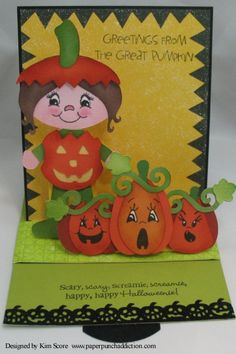 sliding pop up project designed by Kim Score featuring Peachy Keen stamps and SVG Attic cut files