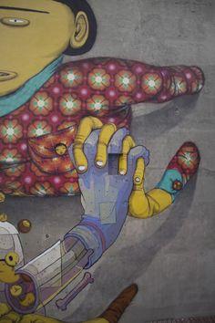 Mural / Łodz, Osgemeos and Aryz