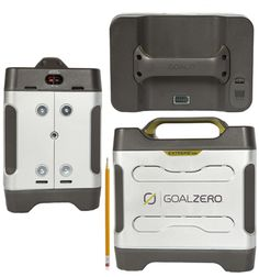 Boulder 30 Solar Panel | Visit Goal Zero  Solar powered generator. The website has several models including one that can run a refrigerator!