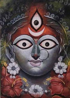 Maa Durga Image, Durga Kali, Kali Hindu, Hindu Art, Kali Mata, Mahakal Shiva, Durga Puja, Durga Maa Paintings, Durga Painting