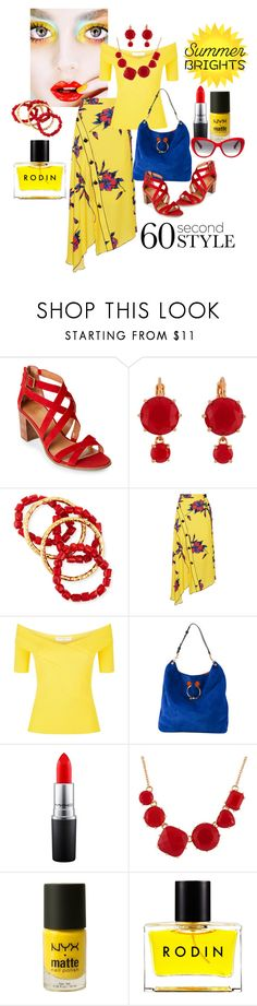 """""""Bright Summer"""" by susan-993 ❤ liked on Polyvore featuring Franco Sarto, Les Néréides, NEST Jewelry, Proenza Schouler, Sandro, J.W. Anderson, MAC Cosmetics, NYX, Rodin and Bobbi Brown Cosmetics"""