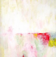 Acrylic Painting Original Abstract Art 12x12 Yellow Pink contemporary art on canvas neon red