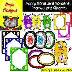Borders, Frames and Tatty's Cliparts Set for Personal and Commercial Use