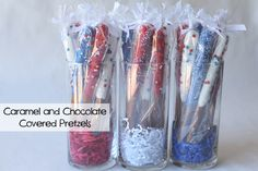 Caramel and Chocolate Pretzels