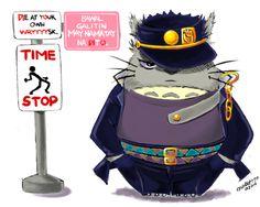 Jotaro Kujo x Totoro crossover... Cute. :)