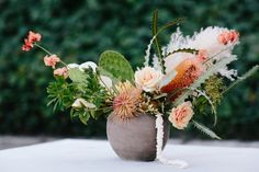 How to Host a Summer Party Protea Wedding, Cactus Wedding, Floral Wedding, Protea Centerpiece, Rose Centerpieces, National Watermelon Day, Watermelon Birthday, Pampas Grass, Ornamental Grasses