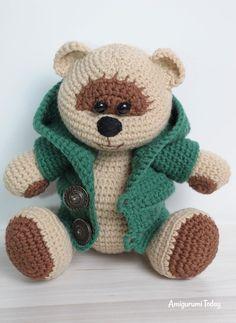 Miel oso de peluche niño amigurumi patrón