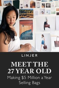 Read about how co-founder Jennifer Chong& built Linjer from nothing and her vision for the future of the brand. Business Planning, Business Tips, Online Business, 27 Years Old, Craft Business, Creative Business, Business Inspiration, Buisness, Online Bags