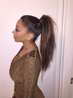 Lala Anthony Rocks An Embellished Ponytail in NYC