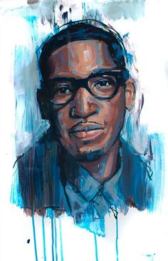 Portrait of Tiny Tempah -An illustration by Jamel Akib