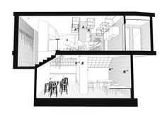 Gallery of Coffice / Gaspar Bonta - 50 Architecture Model Making, Architecture Concept Diagram, Architecture Graphics, Architecture Old, Perspective, Acrylic Artwork, Software Development, Modern Classic, Coffee Shop