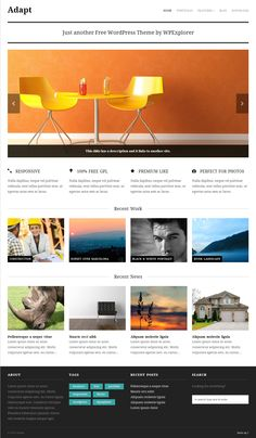 Free Responsive Themes with Sliders