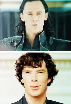 Tom Hiddleston and Benedict Cumberbatch ...they've both got the sexy down.