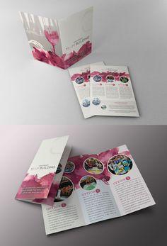 Print Design for Wine & Design Team Building. Folder, Flyer, and Brochure Design.