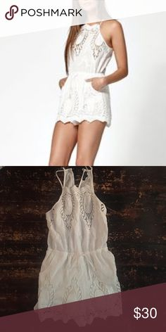 e658124a2913 Adorable Lacey White Kendal and Kylie Romper Super summery