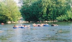 The Little Wolf River Tubing & Camping.