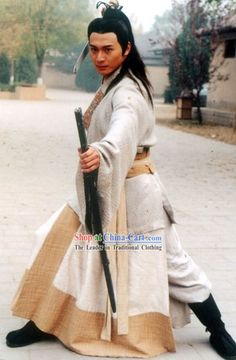 Chinese Traditional Swordsman Clothing for Men     otherwise know as jedi
