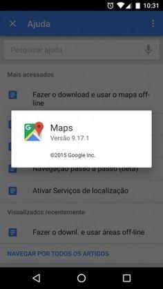 Novo Google Maps com mapas offline - 2