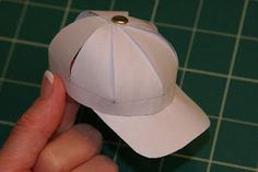 This is the cutest and includes a simple template....... paper baseball caps by childmadetutorials.blogspot