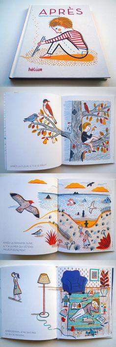Inspireren qua opmaak: links een witte achtergrond met een kleine illustratie en rechts een gevulde illustratie. Werkt goed samen.