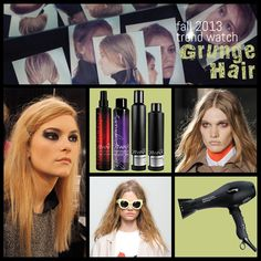 Downtown Style Grunge was popular for Fall 2013 with Victoria Beckham, Tracy Reese, Karen Walker, Tibi, Altuzarra, and Phillip Lam. Get the Look: Prep hair with Sleek Mystique Fast Fixx Style Prep and Your Highness Root Boost Spray, then blow-dried strands using hands to maintain separation (try the TIGI Pro Session Series Dryer). Apply a small amount of Session Series Transforming Dry Shampoo for matte separation and finish the style with Session Series Finishing Hairspray.