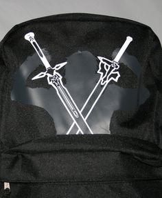 Sword Art Online Kirito with Swords Black Backpack