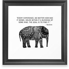 "Buddha quote - ""Every experience, no matter how bad it seems, holds within it a blessing if some kind. The goal is to find it."""