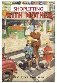 Postcard Shopping With Mother 1958 Series 563 Ladybird Book Cover