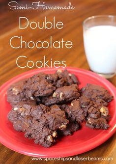Semi Homemade Double Chocolate Cookies AD Shoebox