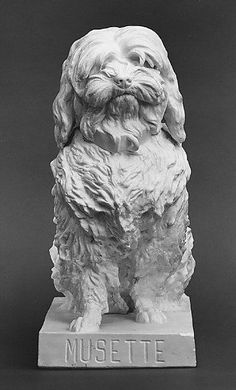 Bertrand Gille | Musette, a Maltese Dog | After a model by Albert-Ernest Carrier-Belleuse (French, 1824–1887) | 1855–68 | French (Paris) | The Metropolitan Museum of Art, New York | The Charles E. Sampson Memorial Fund, 1977 | 1977.44 #dogs