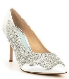 dca3cb125d08b Gianni Bini Crystino Satin Sequin Pointed Pumps. Sparkly Wedding ShoesWedding  HeelsBridal ...
