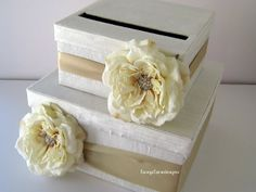 Card Box Wedding Bridal Shower Card Box Wedding Gift Card Holder Wedding Money Card Box - Custom Made