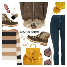 """""""So Cozy: Winter Boots"""" by dressedbyrose ❤ liked on Polyvore featuring Topshop, MaxMara, Miss Selfridge, Montelliana, Under One Sky, Vera Bradley, Oliver Peoples, Kenneth Jay Lane, polyvoreeditorial and winterboots"""