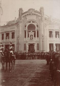 Salone dei festeggiamenti, giorno dell'inaugurazione, 28 aprile 1906 i reali al salone (Parco)