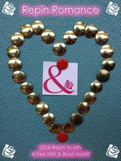Spread the love! Repin our heart of pins and you'll be entered into a competition to win a new Mills & Boon book! Good luck :)
