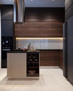 Modern Home Interior Design to Your Kitchen Design Loft Kitchen, Kitchen Room Design, Luxury Kitchen Design, Kitchen Cabinet Design, Home Decor Kitchen, Kitchen Furniture, Kitchen Interior, Home Kitchens, Kitchen Cabinets