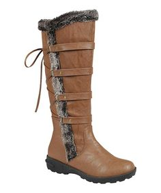 $29.99 Tan Lace-Back Aura Boot | zulily