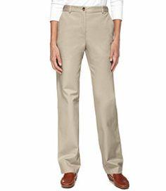 #LLBean: Bayside Twill Pants, Classic Fit Straight-Leg Hidden Comfort Waist