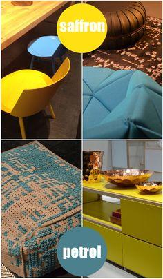 #trends2013 #ImmCologne #saffron #petrol #colors #interiors
