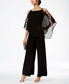 70691e3c844 MSK Embellished Chiffon-Overlay Jumpsuit Pant Jumpsuit