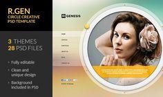 PSD Templates - R.Gen - Circle Creative PSD Template | ThemeForest