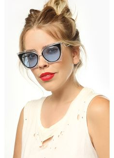 cee0b5613fe Orchidea Designer Inspired Pointed Cat Eye Sunglasses