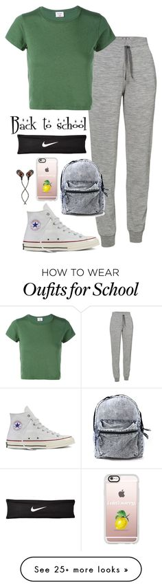 """""""Back to school"""" by musicwildlife on Polyvore featuring Icebreaker, RE/DONE, Converse, Casetify, The House of Marley and NIKE"""