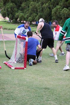 The team scrambles to make a goal!
