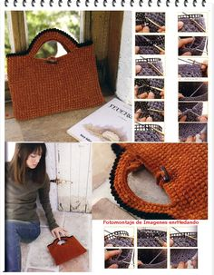 Discover thousands of images about Como hacer Bolsos con Telares de Rejillas Bargello Needlepoint, Fun Crafts, Diy And Crafts, Orange Bag, Knitted Bags, Crochet Bags, Plastic Canvas Crafts, Crochet For Beginners, Craft Party