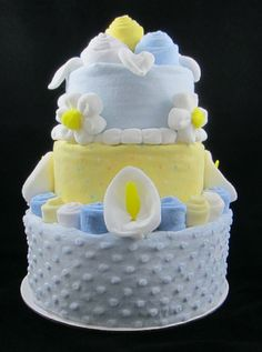 Authentic Topsy Turvy Yellow and Blue Diaper by CreationsofKaren, $100.00
